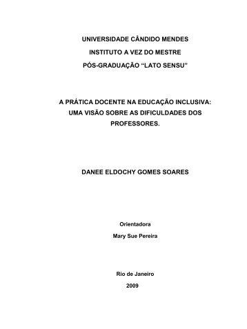 a prática docente na educação inclus - AVM Faculdade Integrada