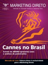 Revista Marketing Direto - Número 111, Ano 11, Agosto 2011 - Abemd