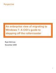 Perspective: Migrating to Windows 7 - Avanade
