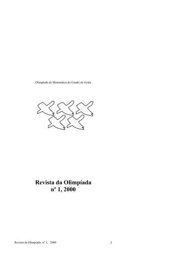 Revista da Olimpíada nº 1, 2000 - OMEG - UFG
