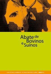 Abate Bovinos Suínos - Cetesb - Governo do Estado de São Paulo