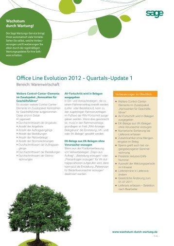Office Line Evolution 2012 - Quartals-Update 1