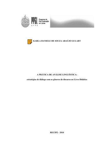 KARLA DANIELE DE SOUZA ARAÚJO GULART A ... - UFPE PPGL