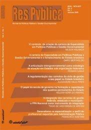 Revista Respública, vol 4, jan-jun 2005 - Ministério do Planejamento