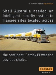Shell Australia needed an intelligent security system to manage ...