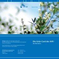GrünCard Faltblatt 2 - AVR