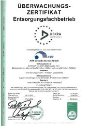 D'EKRA Certificution 1+ DEKRA Ceriifica tion. i DEKRA ... - AVR