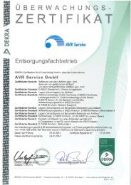 Zertifikat AVR Service GmbH