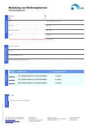 FO-150 Bestellung BioEnergietonne - AVR