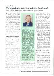 Dieter Pscheidl Wie Reguliert Man International  Schäden? - bei AVUS!
