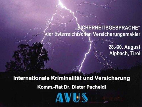 Internationale Kriminalität und Versicherung - bei AVUS!