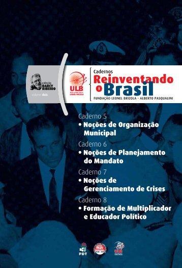 Caderno 5 - Noções de Organização - Cadernos ... - Ulb