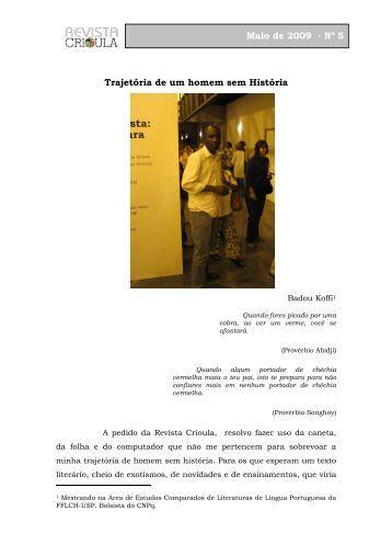 Diário Acadêmico - Badou Robert - fflch - USP