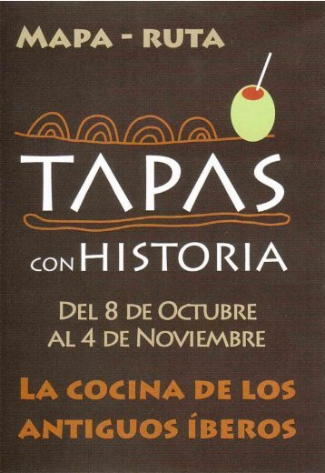 Folleto I Ruta Tapas con Historia - Turismo en Guardamar