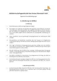 Hier - AWG Abfallwirtschaftsgesellschaft des Kreises Warendorf mbH