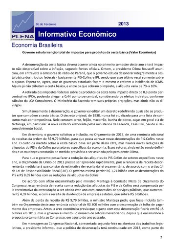 2013 - Plena Consultoria de Investimentos