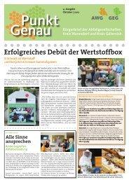 Erfolgreiches Debüt der Wertstoffbox - AWG ...