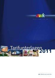 Tarifunterlagen 2011 - awk Aussenwerbung GmbH