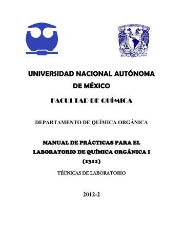 química orgánica i - DePa - UNAM