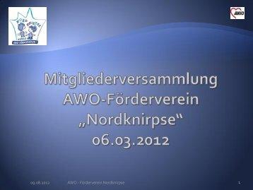 Bericht 2011 - AWO Kreisverband Jena-Weimar e.V.
