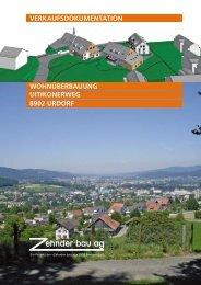 WOHNÜBERBAUUNG 8902 URDORF ... - bei der Zehnder Bau AG
