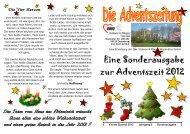 Eine Sonderausgabe zur Adventszeit 2012 - AWO Bezirksverband ...