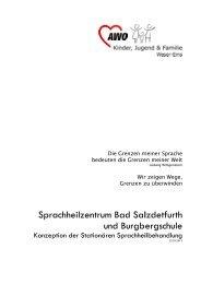 Konzeption der Stationären Sprachheilbehandlung - AWO ...