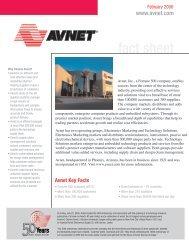Avnet Investor FY 2006 2nd Quarter Fact Sheet - Avnet, Inc.