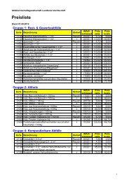 Preisliste - AWV-Online