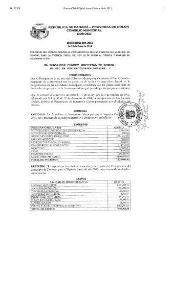 No 27266 Gaceta Oficial Digital, lunes 15 de abril de 2013 1