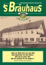 """""""Was uns Noth thut uns zum Heil ward gegründet von den ... - Ayinger"""