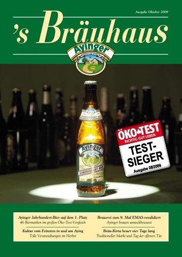 Ayinger Jahrhundert-Bier auf dem 1. Platz 46 Biermarken im großen ...
