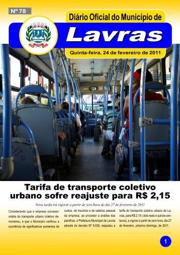 Edição nº78-24/02/2011 - Prefeitura Municipal de Lavras