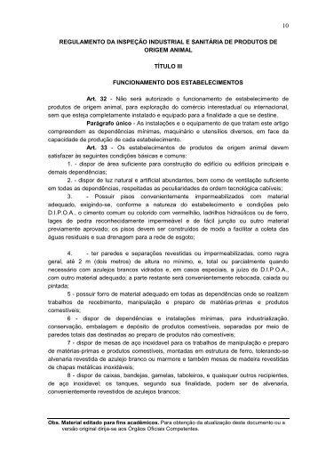 Título III - Funcionamento dos Estabelecimentos - AGAIS