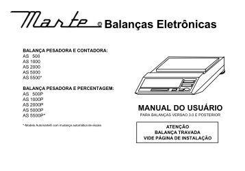 Manual da Balança Eletrônica