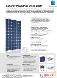 Conergy PowerPlus 215M—235M - B5 Solar