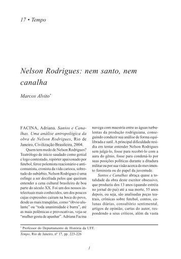 Nelson Rodrigues: nem santo, nem canalha - 223 - UFF