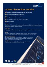 SOLON photovoltaic modules - B5 Solar