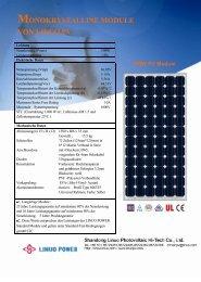 MONOKRYSTALLINE MODULE VON LINUO PV - B5 Solar