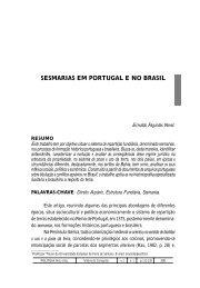 Sesmarias em Portugal e no Brasil - Instituto Politécnico de Beja