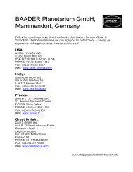 BAADER Planetarium GmbH, Mammendorf, Germany