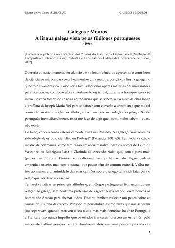 1996 Galegos e Mouros - CLUL - Universidade de Lisboa