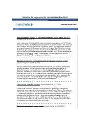 Noticias de Imprensa de 14 de Dezembro 2010 - Fesete