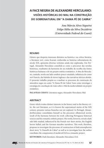 a face negra de alexandre herculano: visões históricas do mal ... - UFF