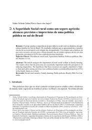 A Seguridade Social rural como um seguro agrícola: alcances ...