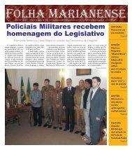 Policiais Militares recebem homenagem do ... - Folha Marianense