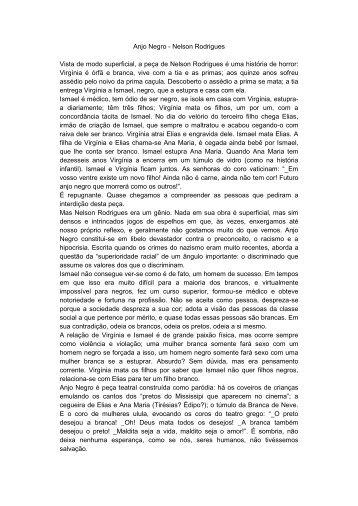 Anjo Negro - Nelson Rodrigues Vista de modo superficial ... - UniBrasil