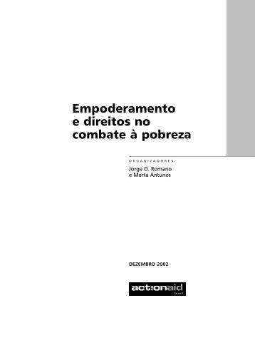 Empoderamento e direitos no combate à pobreza - ActionAid Brasil