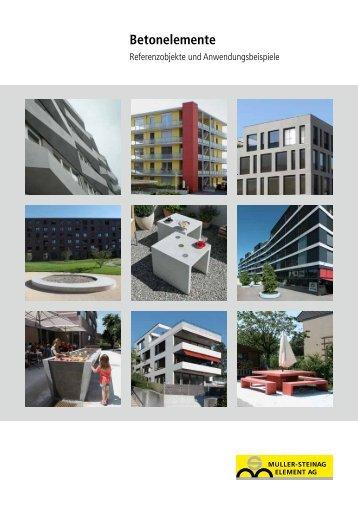 Betonelemente - Zeiss Neutra SA