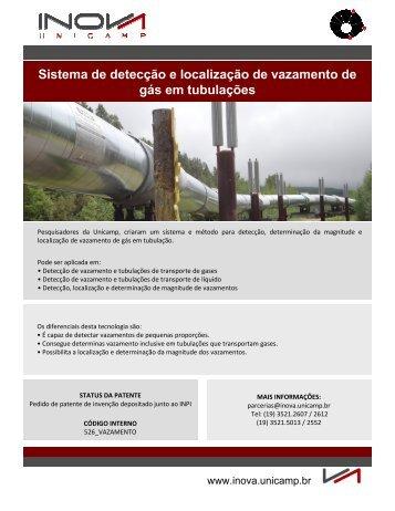 Sistema de detecção e localização de vazamento ... - Inova Unicamp